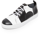 McQ Alexander McQueen Chris Striped Lace Up Sneakers