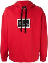 Blood Brother stylised patch hoodie - men - Cotton - XS