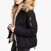 Schott Misty Short Parka with Faux Fur Lining and Pockets
