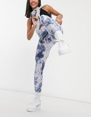 Calvin Klein high waisted logo legging in blue print