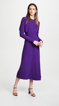 Victoria Beckham Long Sleeve Dolman Midi