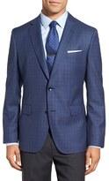 BOSS Men's 'Jeen' Trim Fit Plaid Wool Sport Coat