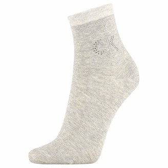 Calvin Klein Women's Short Sock 1p Crystal Logo Piper