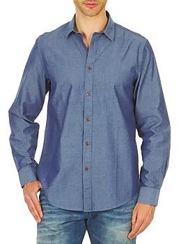 Ben Sherman BEMA00490 men's Long sleeved Shirt in Blue