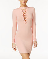 Material Girl Lace-Up Bodycon Dress, Only at Macy's