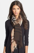 Burberry Women's Ombre Check Wool & Silk Scarf