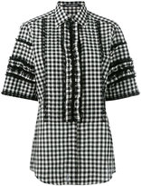 Dolce & Gabbana short sleeved checked shirt - women - Cotton/Linen/Flax/Polyamide - 42