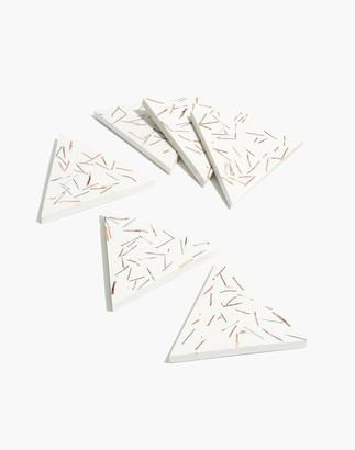 Madewell x Capra Designs Six-Piece Matchstick Coaster Set