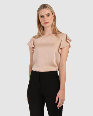 Forcast Women's Shirts & Blouses - Jeslyn Ruffle Sleeve Top - Size One Size, 8 at The Iconic