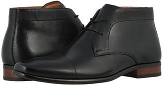 Florsheim Postino Chukka Boot (Black Smooth/Scratch Print) Men's Boots