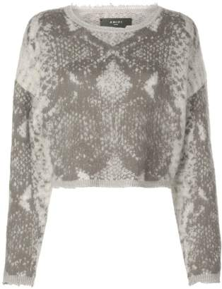 Amiri snakeskin knitted sweater
