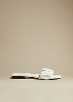 KHAITE The Crete Flat in White Leather