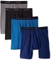 Hanes Men's 4 Pack Ultimate Stretch Long Leg Boxer Brief - Colors May Vary, Assorted, Medium