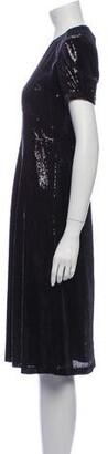 HVN V-Neck Midi Length Dress w/ Tags Black