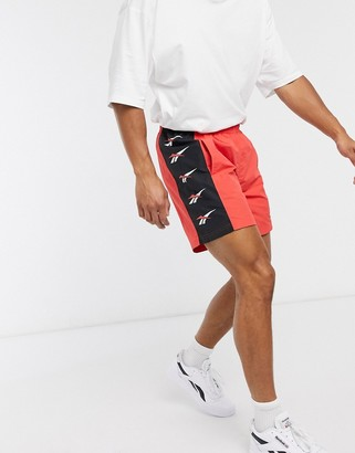 Reebok Classics D Vector repeat shorts in radiant red