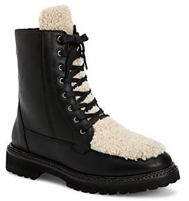 Aquatalia Women's Marlee Weatherproof Calf Leather & Shearling Boots