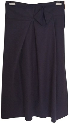 Avelon Navy Wool Skirt for Women