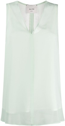 Alysi Sheer Sleeveless Top