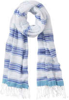 Joe Fresh Women's x lemlem Fringe Scarf, Blue (Size O/S)