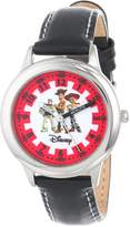 "Disney Kids' W000064 Toy Story 3 ""Buzz Lightyear, Woody and Jessie"" Stainless Steel Time Teacher Watch"