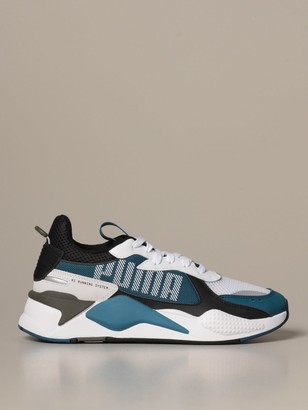 Puma Rs-x Bold Mesh And Synthetic Leather Sneakers