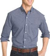 Izod Long-Sleeve Essential End On End Woven Cotton Poplin Shirt