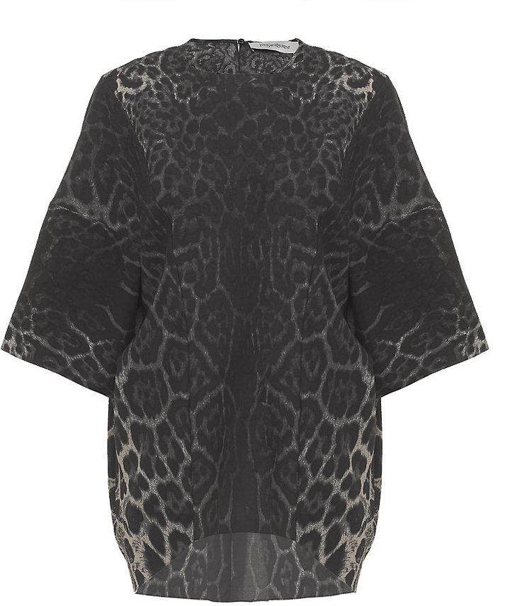 Yves Saint Laurent Leopard Tunic Top