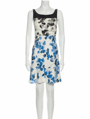 Narciso Rodriguez Silk Mini Dress White