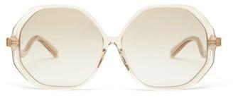 Linda Farrow Una Heptagonal Acetate Sunglasses - Clear