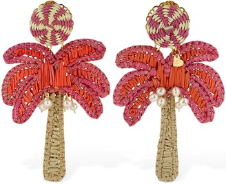Mercedes Salazar Palm Tree Clip-on Earrings
