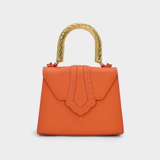 MEHRY MU Soft Fey Bag In Orange Leather