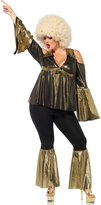 Leg Avenue Women's Plus-Size Disco Diva Costume, Black/Gold