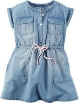 Carter's Short-Sleeve Chambray Woven Dress - Girls 4-8