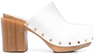 Stella McCartney Rivet-Detail Block-Heel Mules