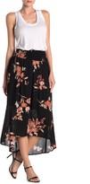 Bobeau Floral Smocked High/Low Skirt