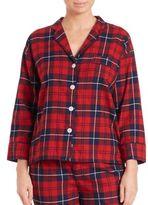 Sleepy Jones Marina Plaid Flannel Pajama Shirt