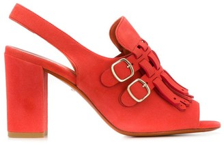 Santoni Heeled Sandals With Buckles