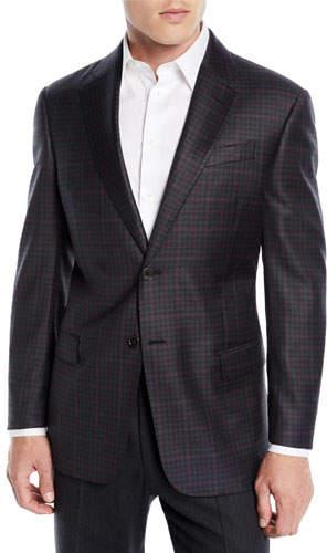 Emporio Armani Men's Two-Tone Plaid Wool Jacket