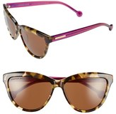Jonathan Adler Women's 'Positano' 60Mm Cat Eye Sunglasses - Black