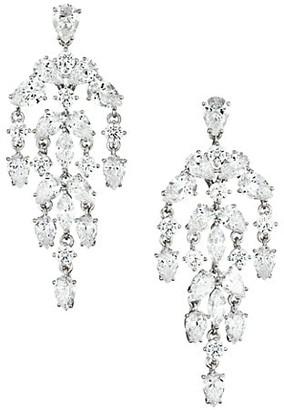 Adriana Orsini Silvertone & Cubic Zirconia Chandelier Drop Earrings