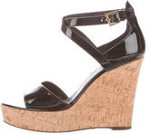 Barbara Bui Patent Leather Platform Wedges