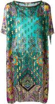 Etro Indian print tunic - women - Metallic Fibre/Silk - One Size