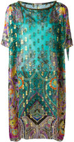 Etro Indian print tunic - women - Silk/Metallic Fibre - One Size