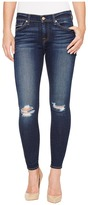 7 For All Mankind The Ankle Skinny w/ Knee Holes in Dark Paradise Women's Jeans