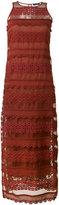 Twin-Set lace column dress - women - Silk/Cotton - 40