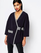 French Connection Jasmine Stitch Kimono