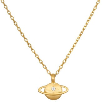 Satya White Topaz Saturn Pendant w/ Chain