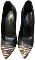 Saint Laurent Janis Black Water snake Heels