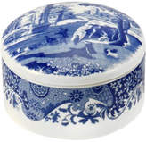 Spode Blue Italian Round Trinket Box