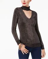 MICHAEL Michael Kors Metallic Choker Sweater, a Macy's Exclusive Style